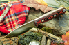 Bark River Knives: UP EDC - Red & Black Linen Micarta - Red Liners