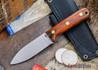 L.T. Wright Knives: Genesis - Desert Ironwood - Flat Ground - A2 Steel - #54