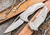 Brous Blades: Exo - Titanium Handles - Stonewash Finish