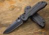 Benchmade Knives: 908BK-1501 Axis Stryker II - Carbon Fiber - Black Blade - Drop Point - CPM M4