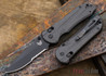 Benchmade Knives: 908SBK-1501 Axis Stryker II - Carbon Fiber - Black Blade - Drop Point - CPM M4 - Serrated