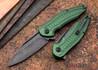 Brous Blades: Bionic XL - Green Aluminum Handles - Acid Stonewash Finish