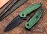 Brous Blades: Bionic XL - Green Aluminum Handles - Blackout Finish