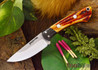 Northwoods Knives: Iron River - Amber Stag Bone - Red Liners