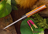 Northwoods Knives: Iron River - Amber Jigged Bone - Red Liners