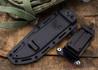 Benchmade Knives: 119SBK Arvensis - Fixed Blade - Black G-10 - Serrated Black Blade