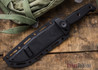 Benchmade Knives: 119S Arvensis - Fixed Blade - Partially Serrated - Black G-10