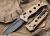 Benchmade Knives: 2750BKSN Adamas Auto - Black Blade - Desert Sand G-10