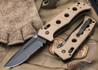 Benchmade Knives: 2750SBKSN Adamas Auto - Serrated Black Blade - Tan G-10