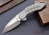 Todd Begg Knives: Custom Glimpse 6.0 - Silver Twill Inlay - Swedge Grind - 120902