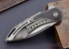 Todd Begg Knives: Custom Glimpse 6.0 - Lightning Strike Inlay - Swedge Grind - 120905
