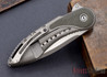 Todd Begg Knives: Custom Glimpse 6.0 - Green Canvas Micarta Inlay - Long Swedge Grind - 120907