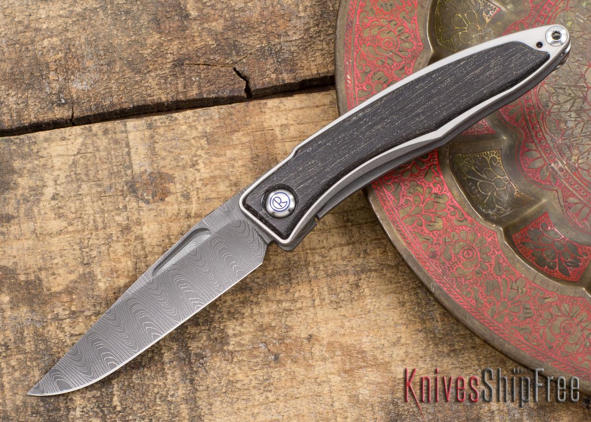 Chris Reeve Knives: Mnandi - Bog Oak - Ladder Damascus - 031507 primary image