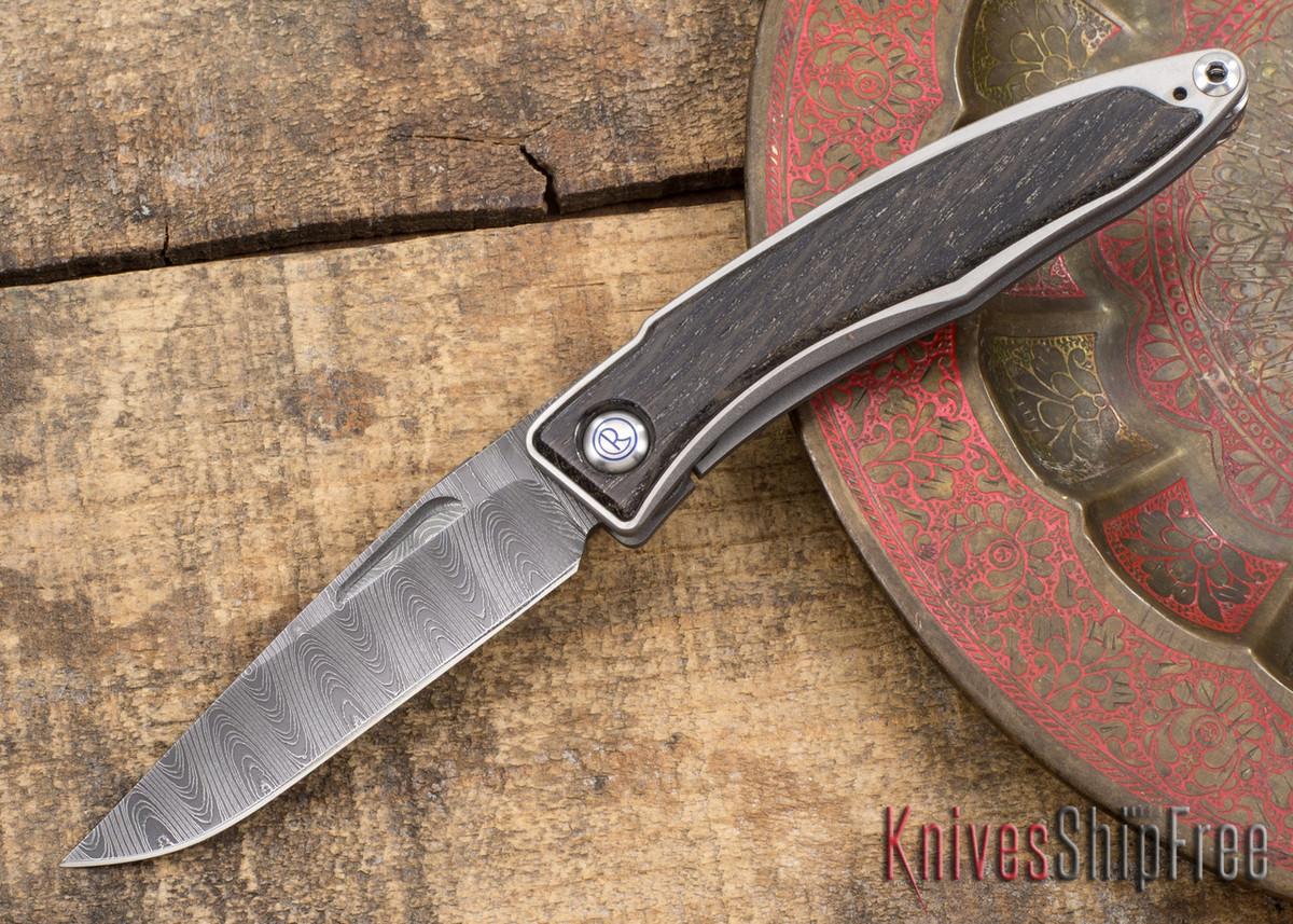 Chris Reeve Knives: Mnandi - Bog Oak - Ladder Damascus - 031509 primary image