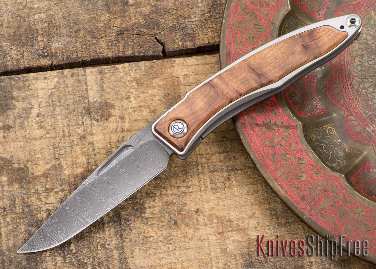 Chris Reeve Knives: Mnandi - Thuya Burl - Ladder Damascus - 031515 primary image