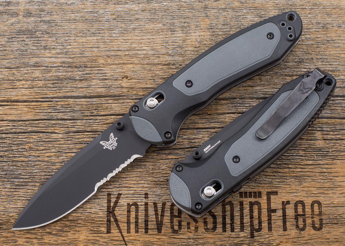 Benchmade Knives: 590SBK Boost - Assisted Opening - Black Blade - Partially Serrated primary image