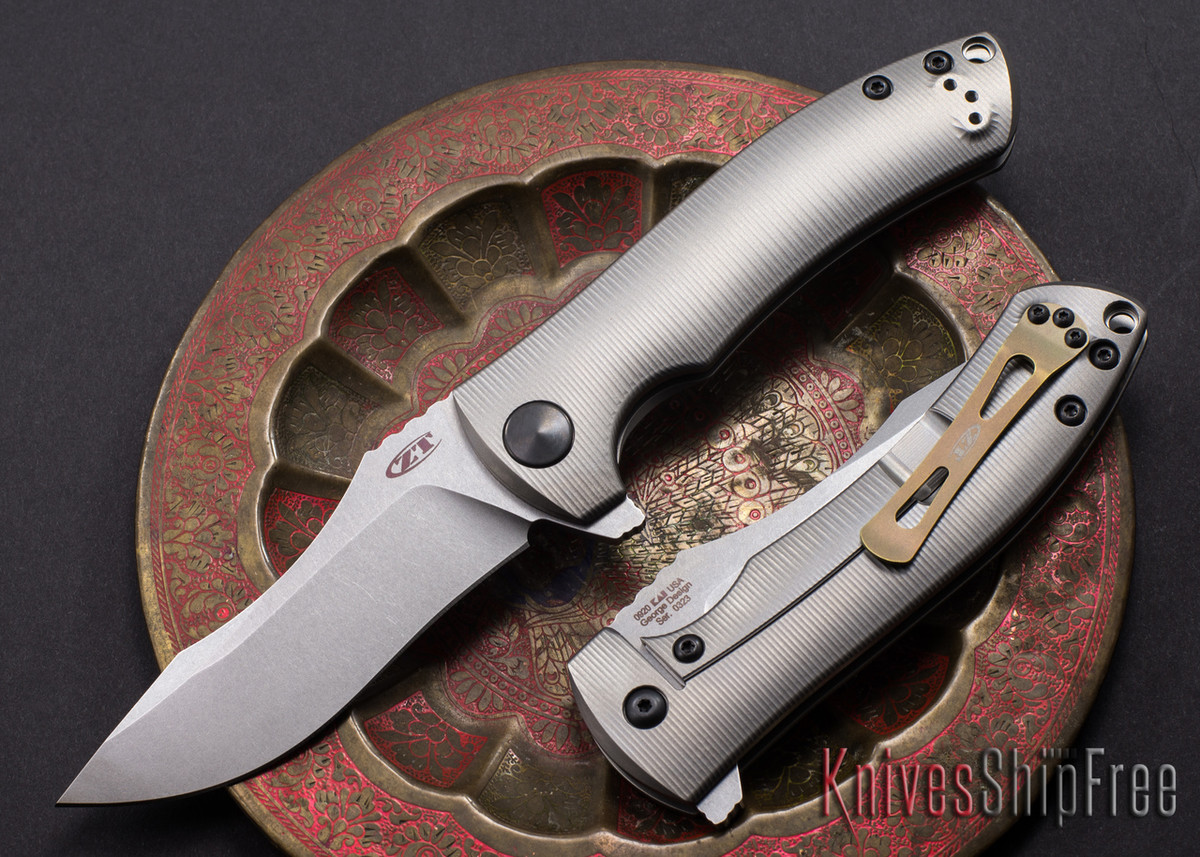 Zero Tolerance: 0920 - Clip Point - Titanium Flipper - Les George Design primary image