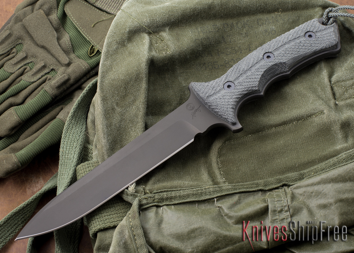 "Chris Reeve Knives: Green Beret - 7"" - Black PVD - Plain Edge primary image"