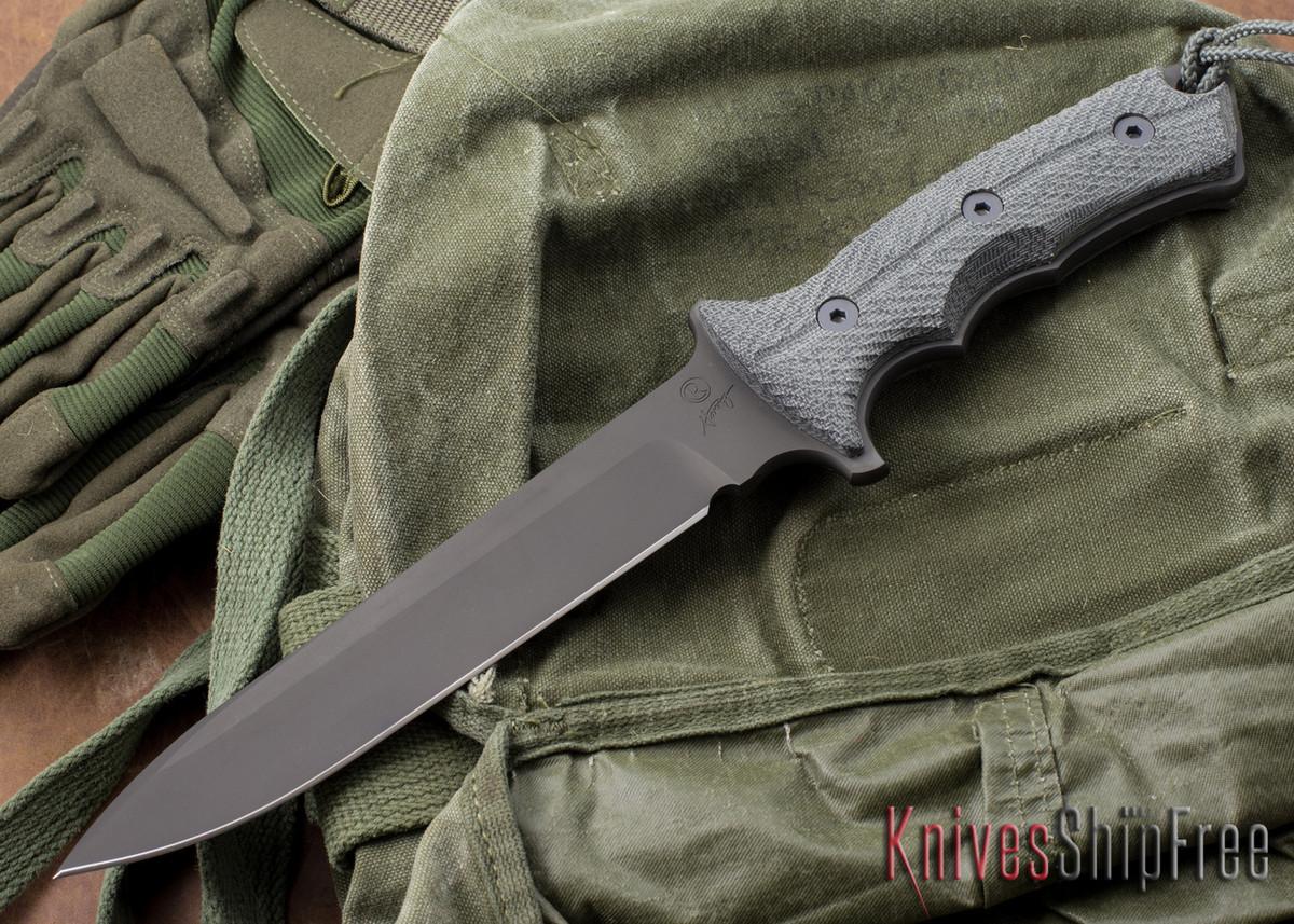 "Chris Reeve Knives: Green Beret - 7"" - Black KG GunKote - Plain Edge primary image"