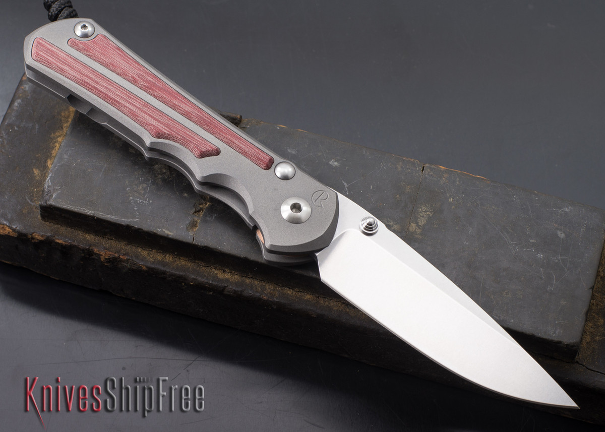 Chris Reeve Knives: Large Inkosi - Left-Handed - Red Linen Micarta Inlay primary image