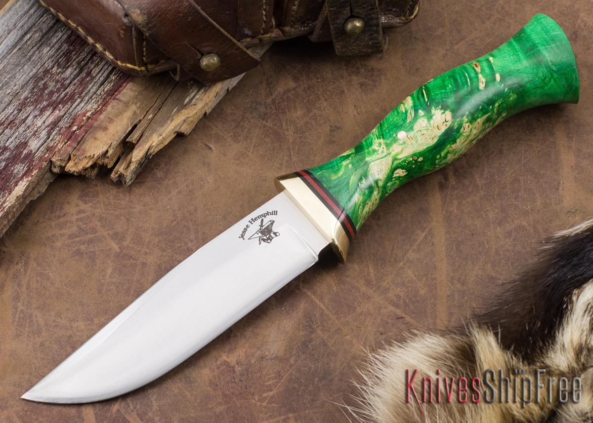 Jesse Hemphill Knives: Town Creek II - Green Maple Burl #2 primary image