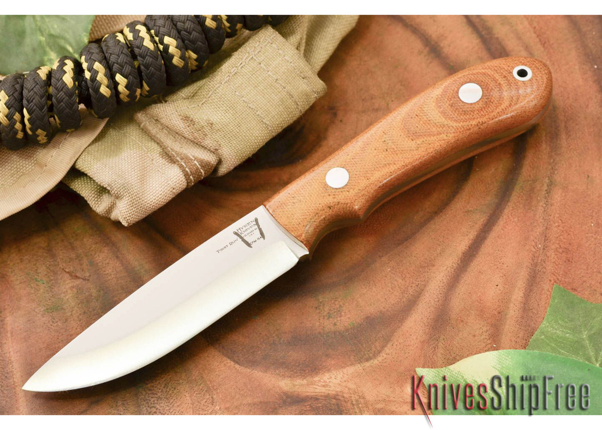 Hyken Knives: Bushcrafter CPM-154 - Natural Canvas Micarta primary image
