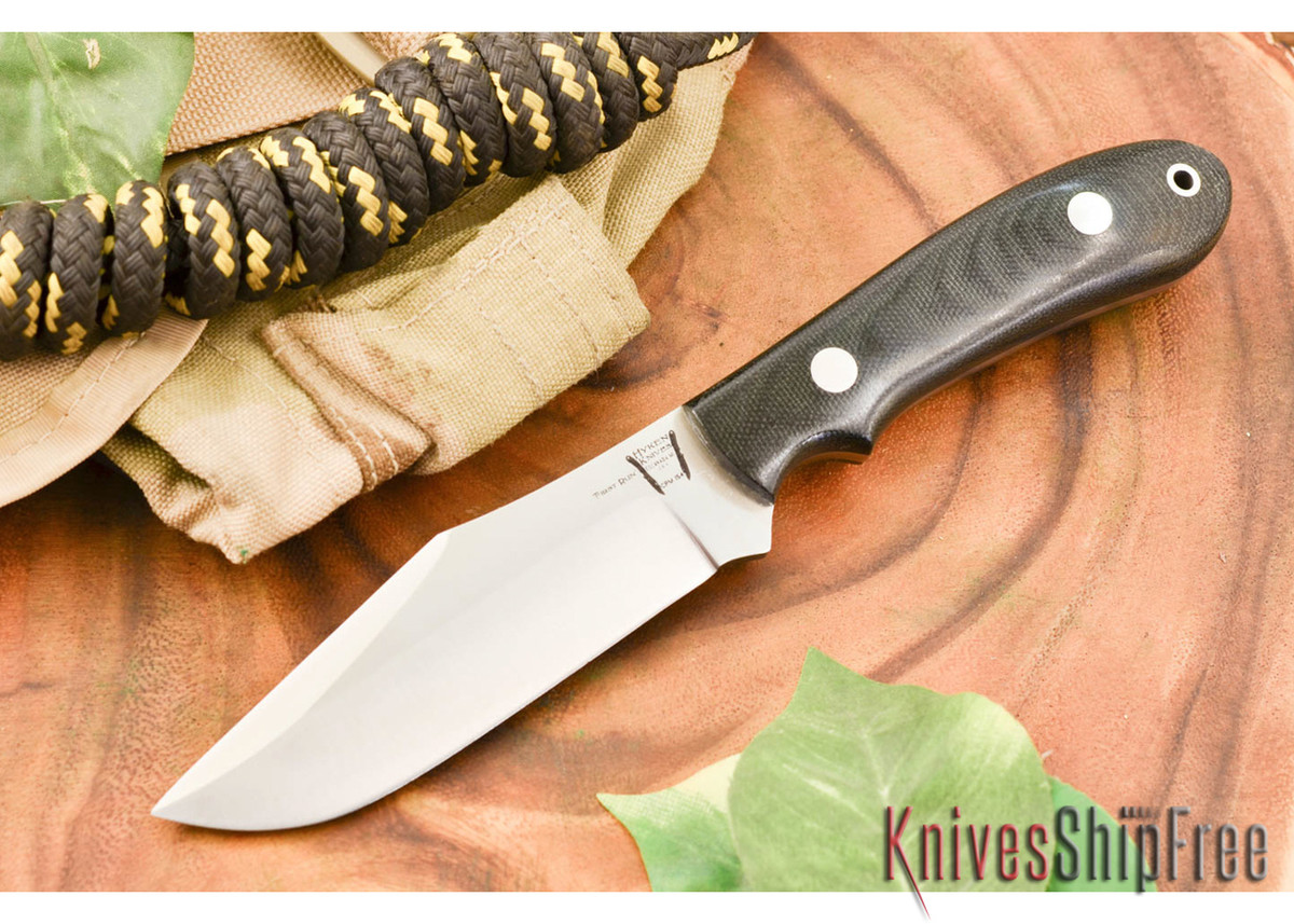 Hyken Knives: Harpoon CPM-154 - Black Canvas Micarta primary image