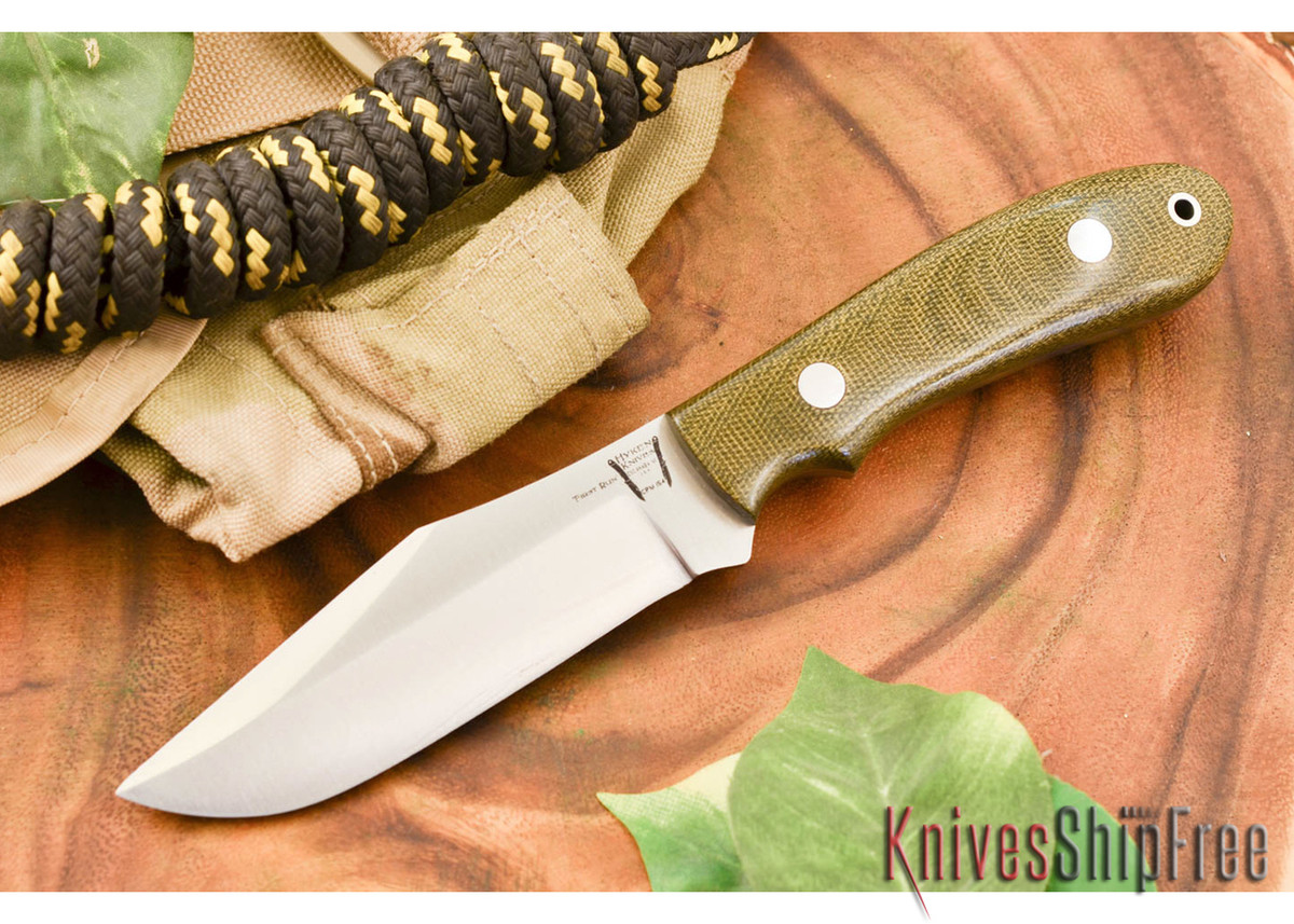 Hyken Knives: Harpoon CPM-154 - Green Canvas Micarta primary image
