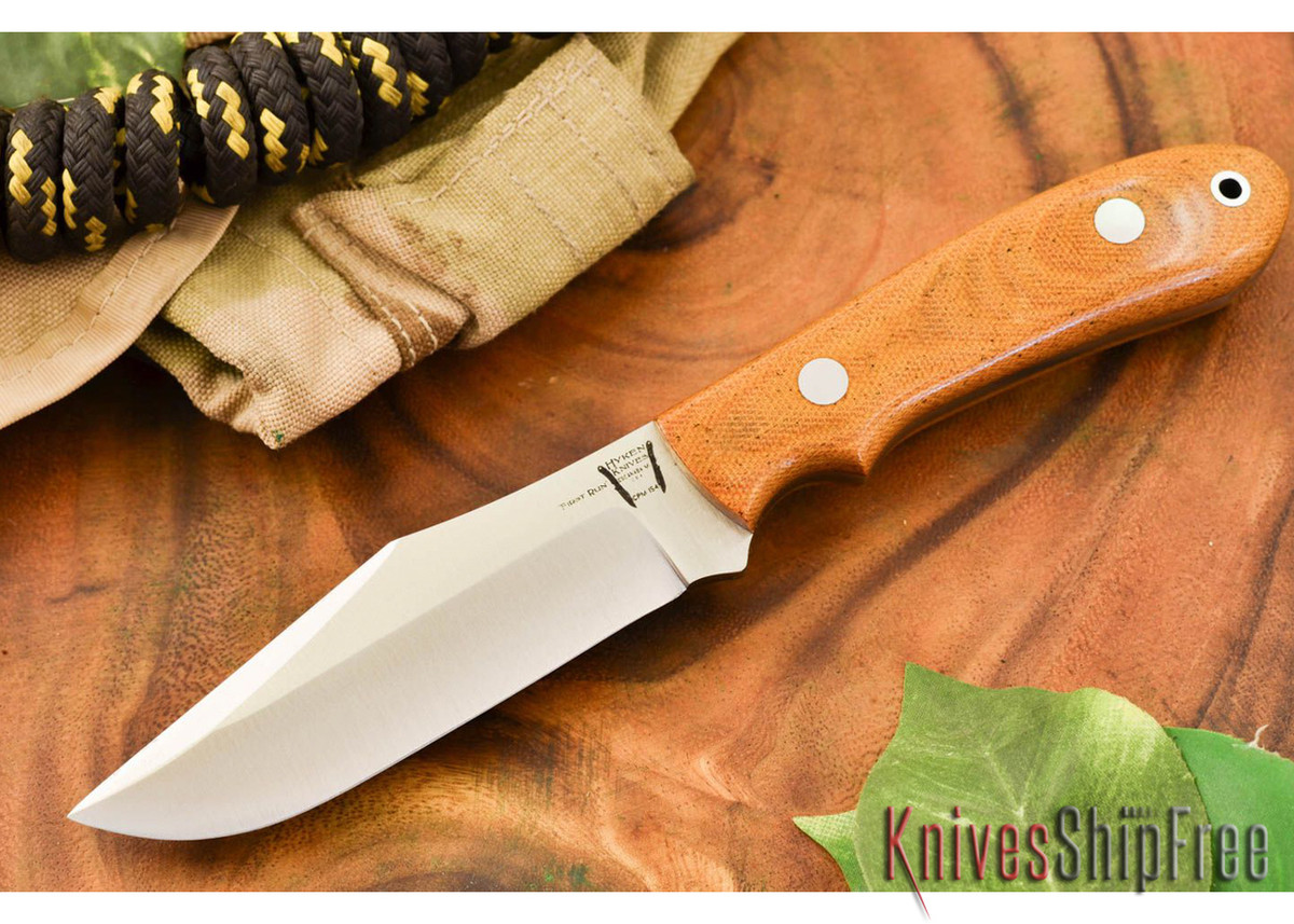 Hyken Knives: Harpoon CPM-154 - Natural Canvas Micarta primary image