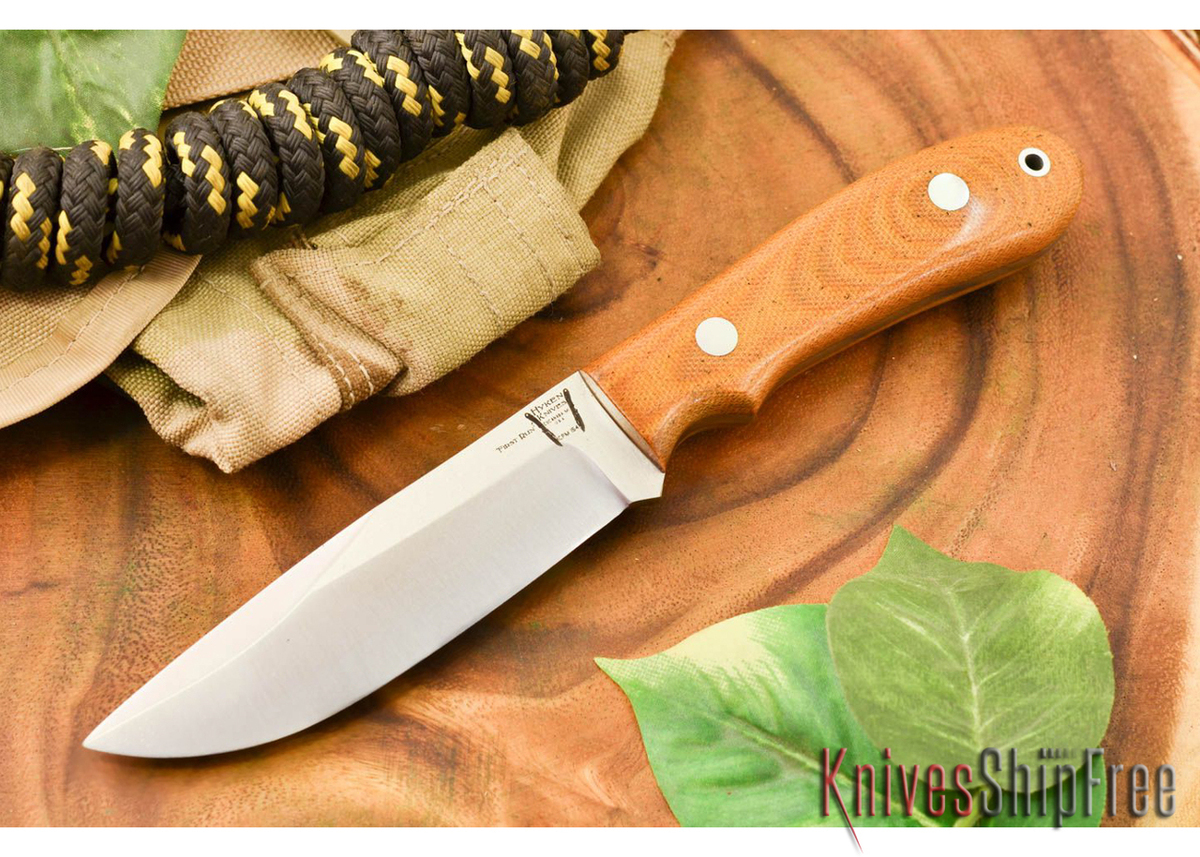 Hyken Knives: Lite Hunter CPM-154 - Natural Canvas Micarta primary image