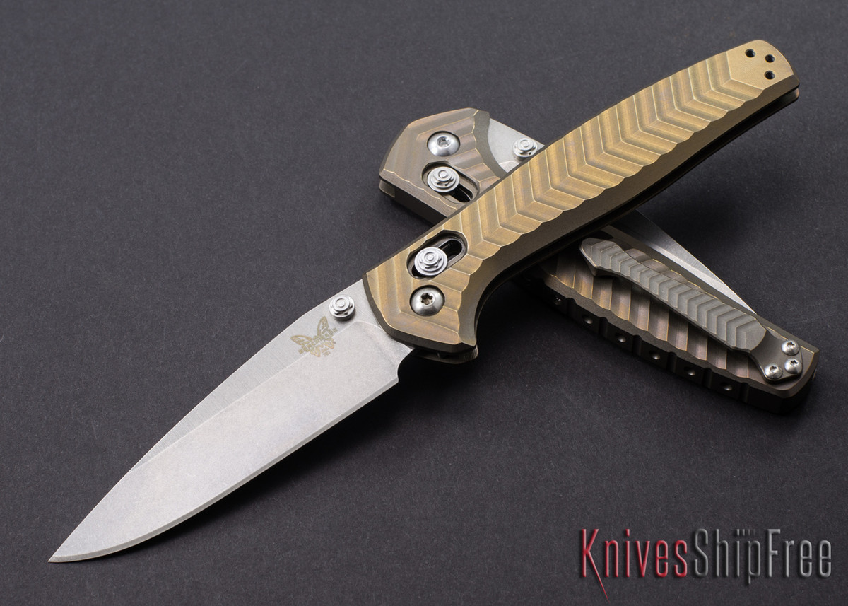 Benchmade Knives: 781 Anthem - Solid Titanium Body - AXIS Lock - CPM 20CV primary image