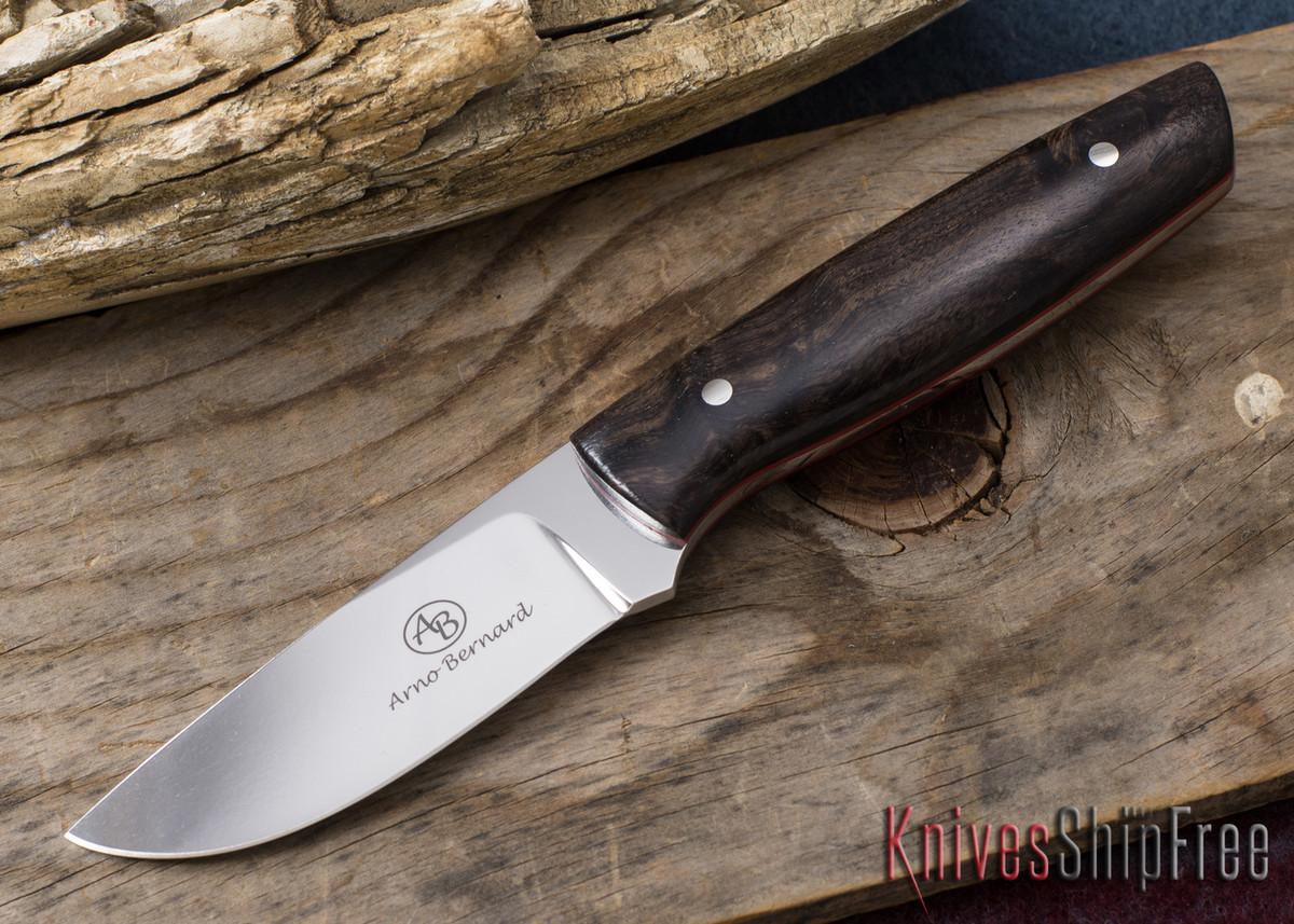 Arno Bernard Knives: Pro Hunter Series - Wildebeest - Ebony - Red Liners - 050917 primary image