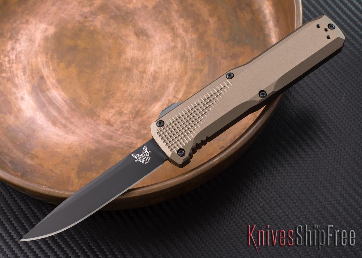 Benchmade Knives: 4600DLC-1 Phaeton - OTF Auto - Dark Earth Anodized - DLC Coating primary image