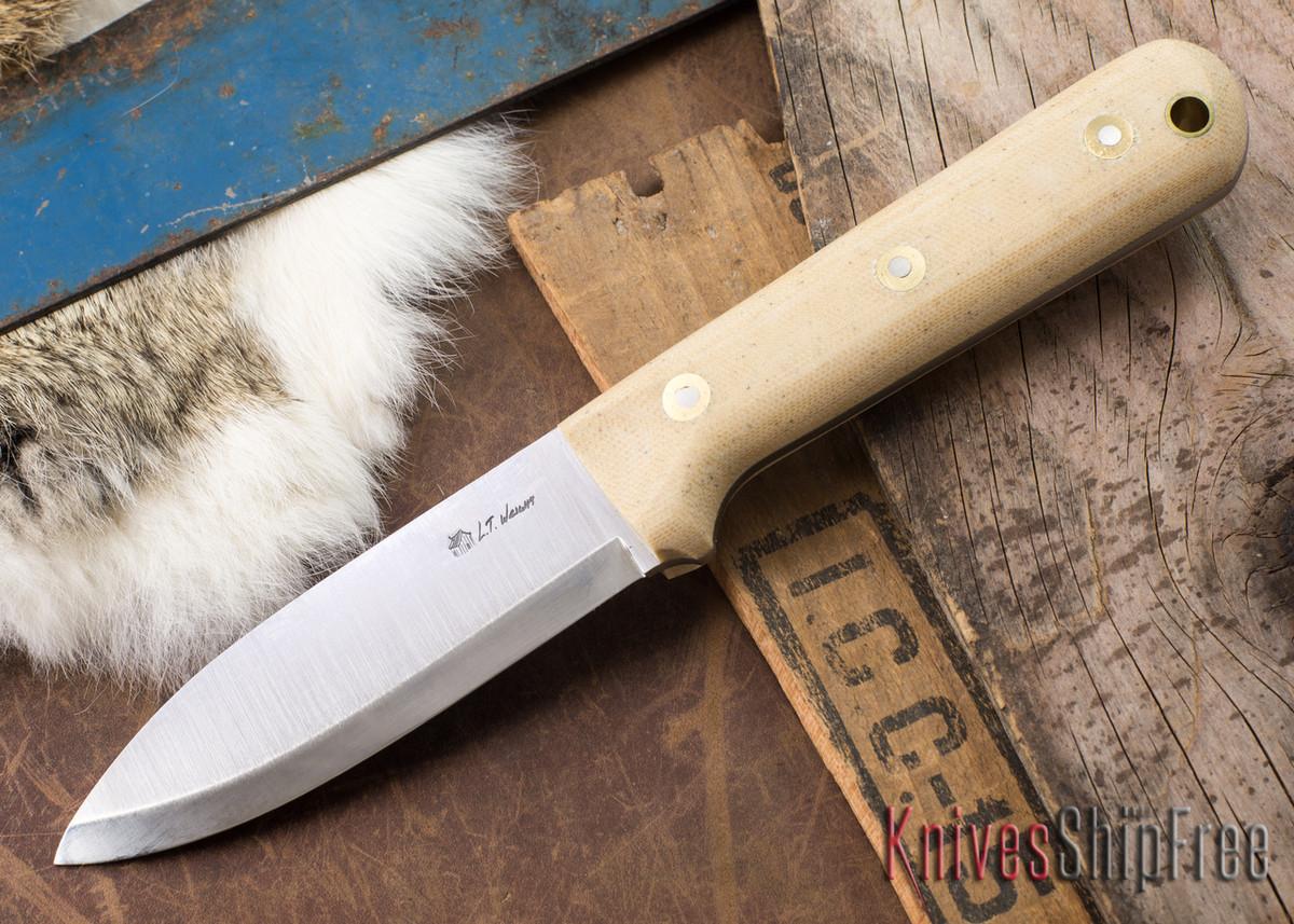 L.T. Wright Knives: Genesis - Scandi Grind - A2 Steel - Snakeskin Micarta - Matte primary image