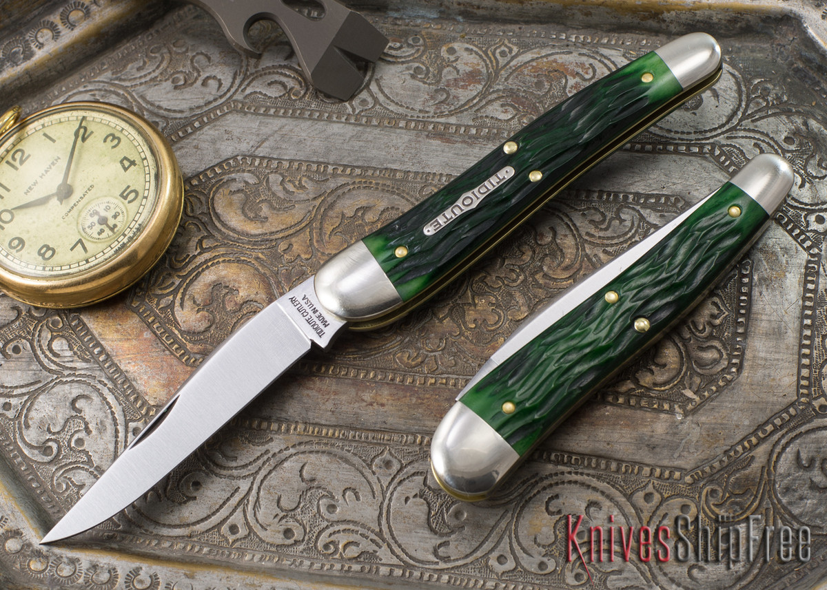 Great Eastern Cutlery: #38 Special - Tractor Green Jigged Bone