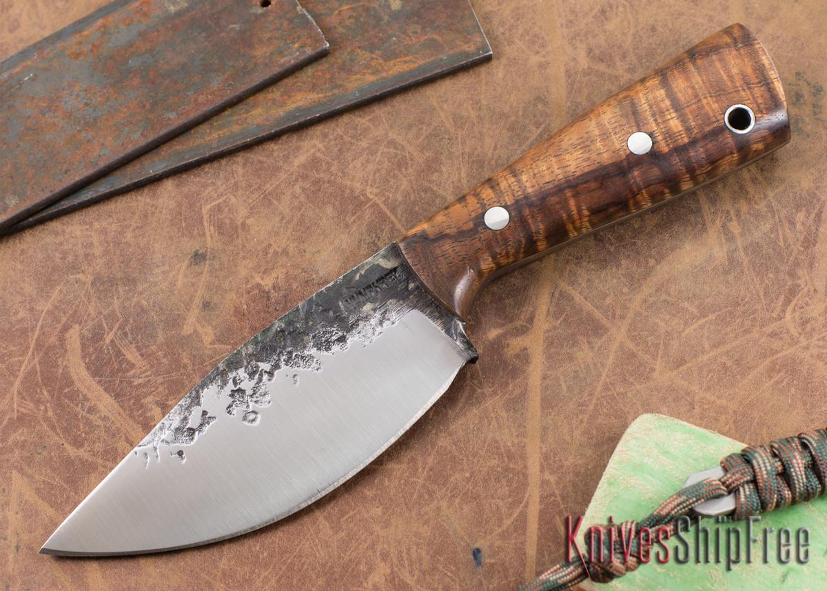 Lon Humphrey Knives: Custom Brute - Curly Koa - Drop Point #5 primary image