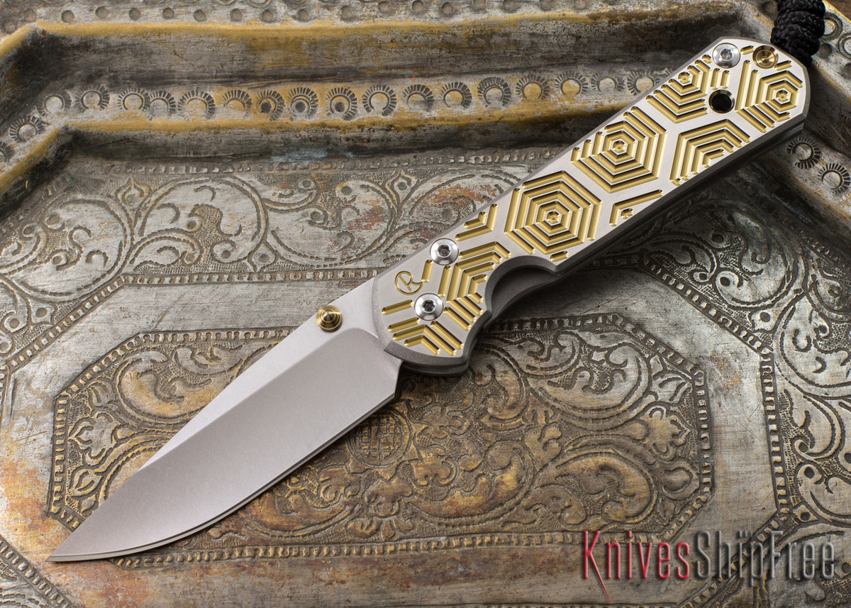 Chris Reeve Knives: Small Sebenza 21 - CGG Hex Gold primary image