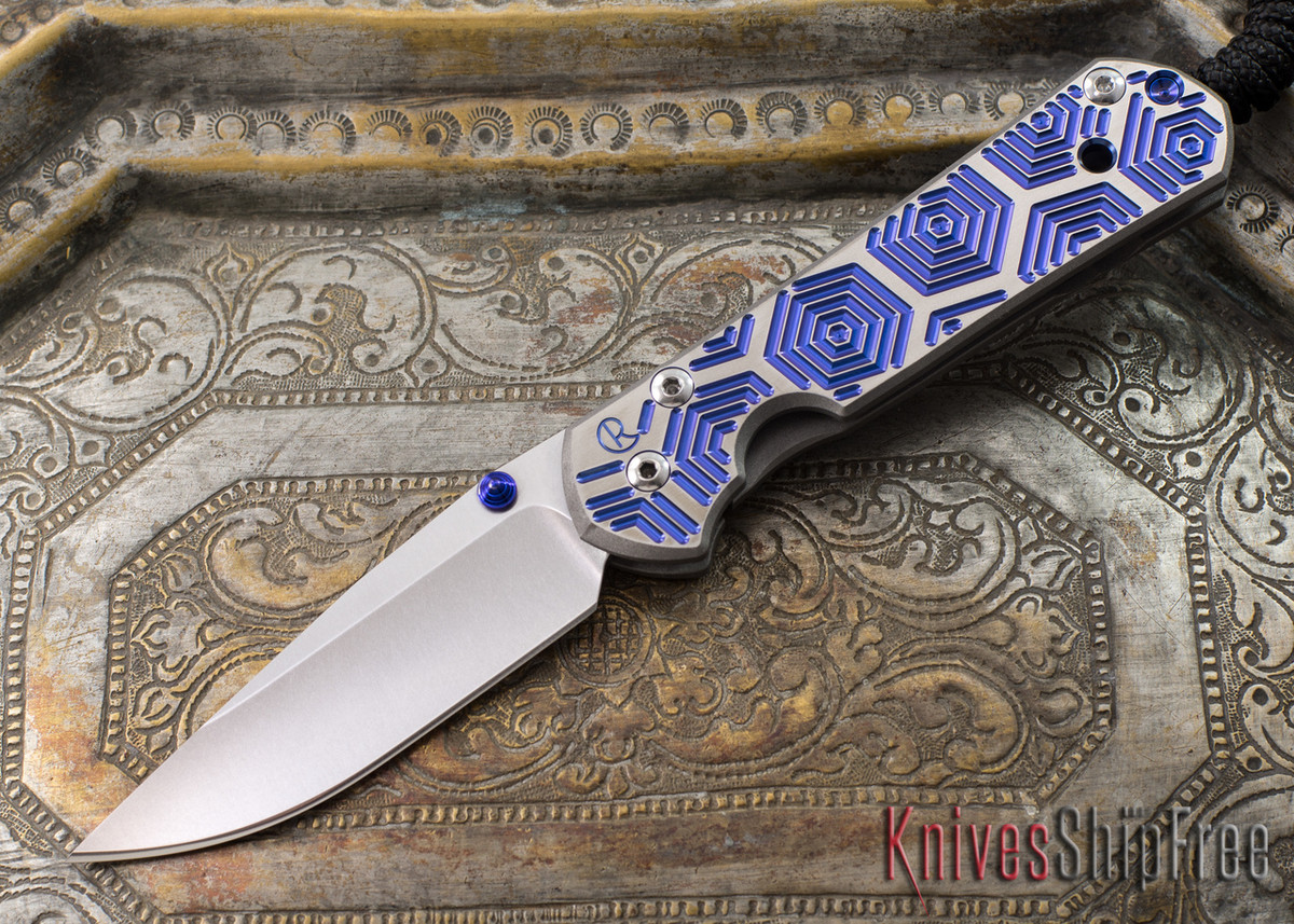 Chris Reeve Knives: Small Sebenza 21 - CGG Hex Blue primary image