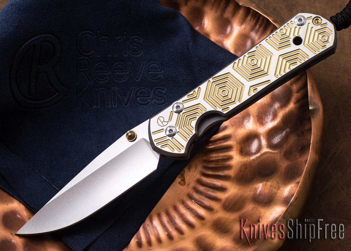Chris Reeve Knives: Large Sebenza 21 - CGG Hex Gold primary image