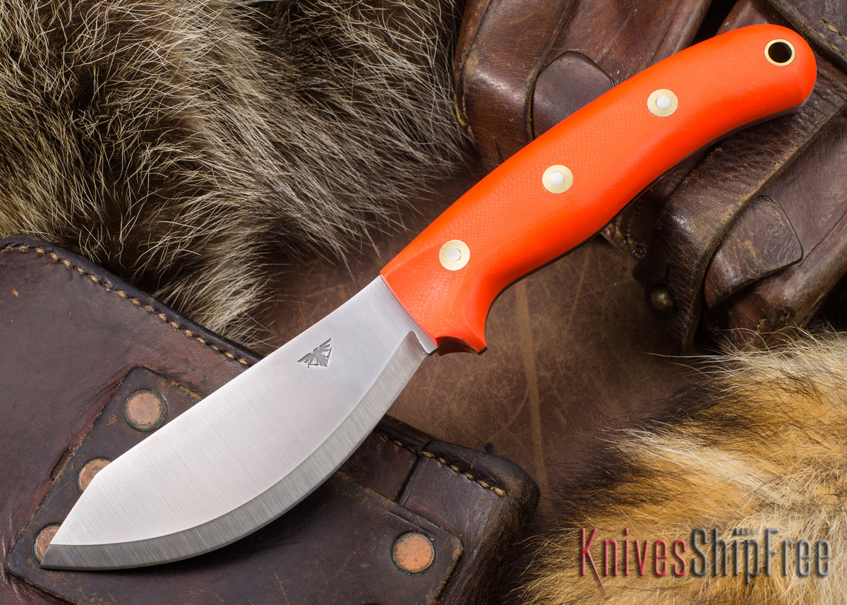 L.T. Wright Knives: JX2 Jessmuk - O1 - Orange G-10 - Matte primary image
