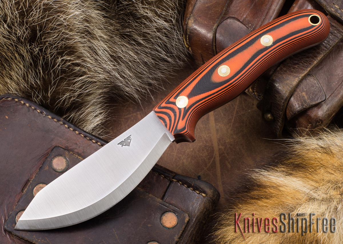 L.T. Wright Knives: JX2 Jessmuk - O1 - Orange & Black G-10 - Matte primary image