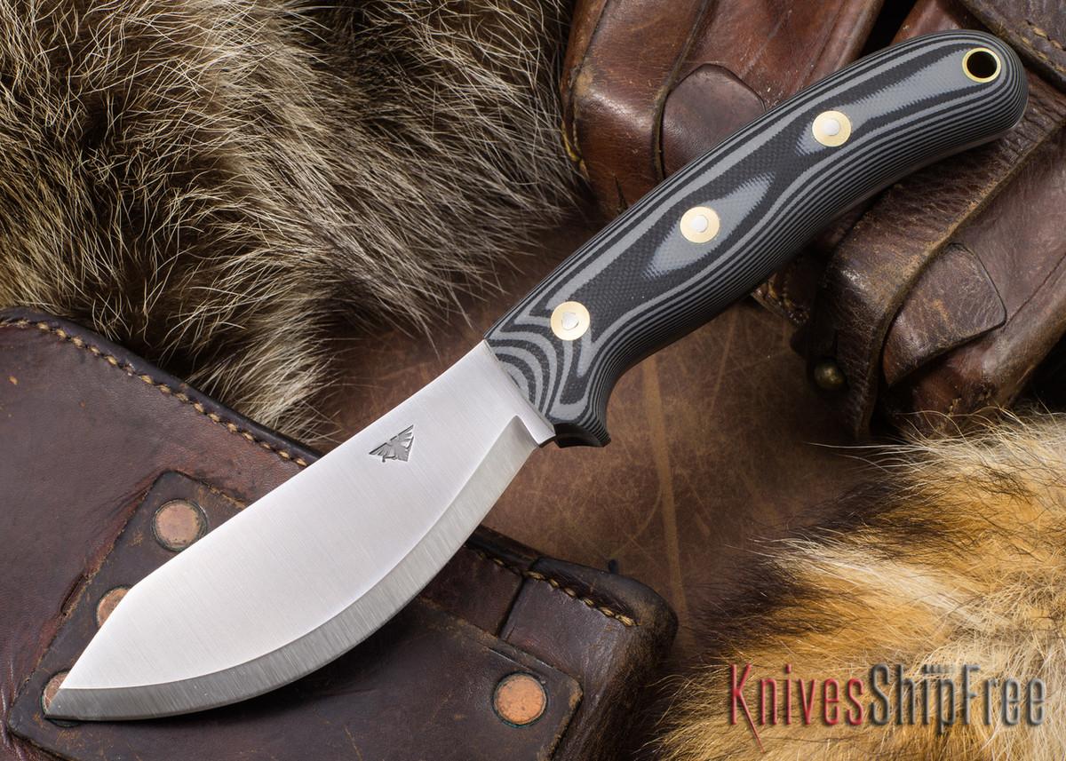 L.T. Wright Knives: JX2 Jessmuk - O1 - Gray & Black G-10 - Matte primary image
