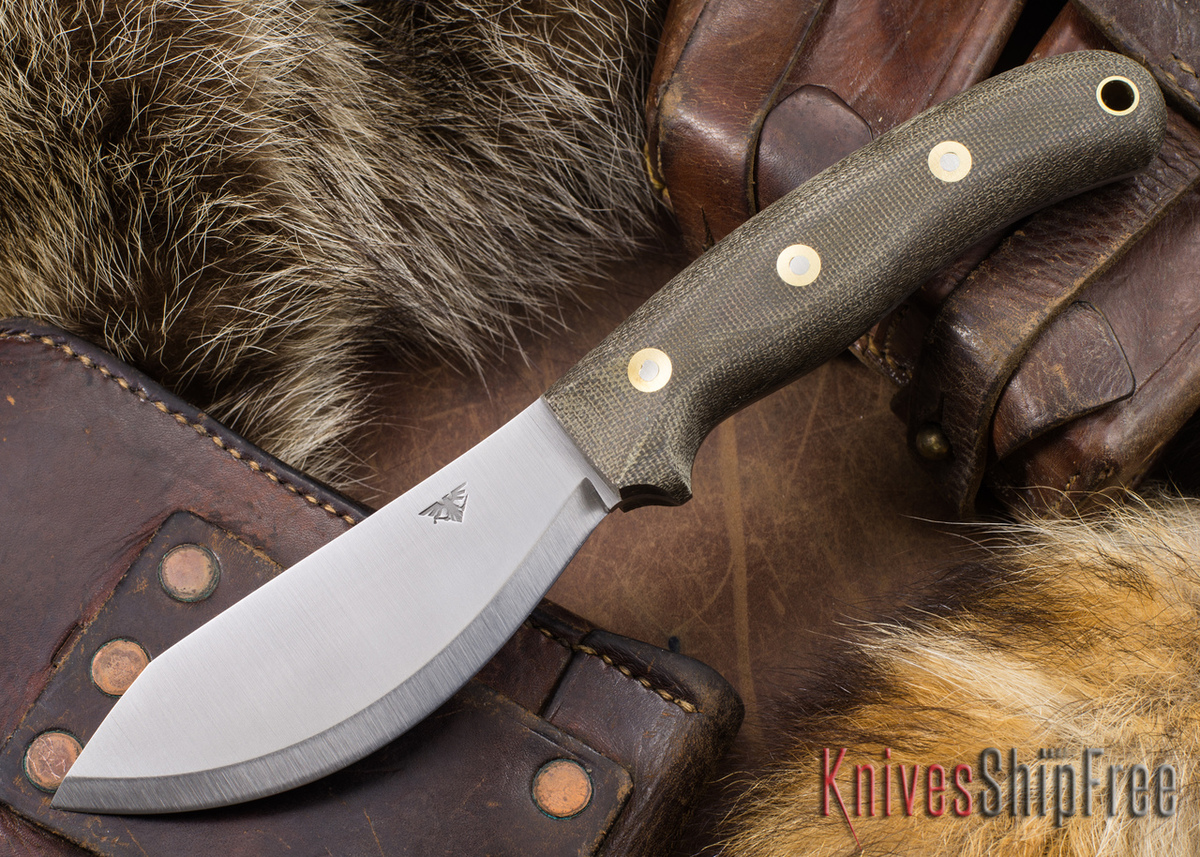 L.T. Wright Knives: JX2 Jessmuk - O1 - Green Micarta - Matte primary image