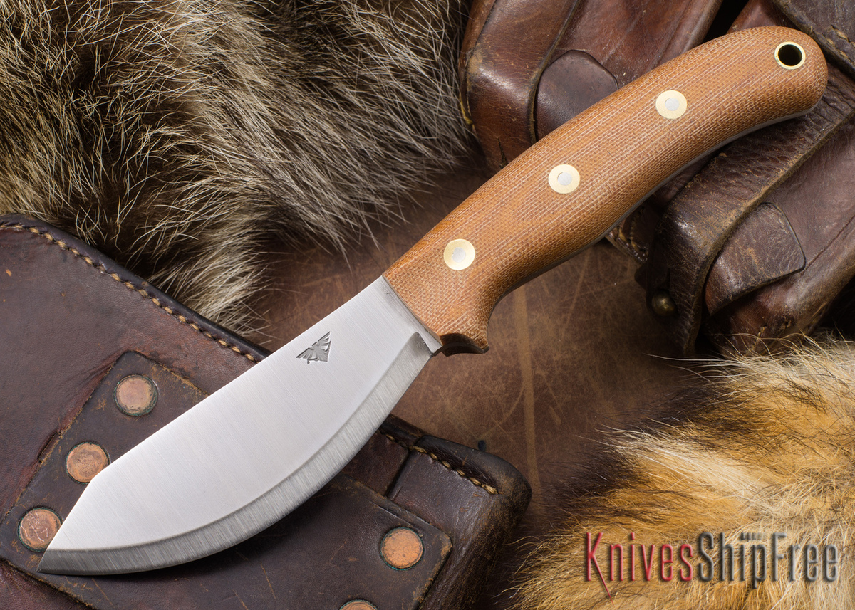 L.T. Wright Knives: JX2 Jessmuk - O1 - Natural Micarta - Matte primary image