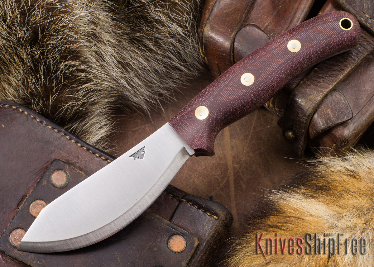 L.T. Wright Knives: JX2 Jessmuk - O1 - Double Red Micarta - Matte primary image