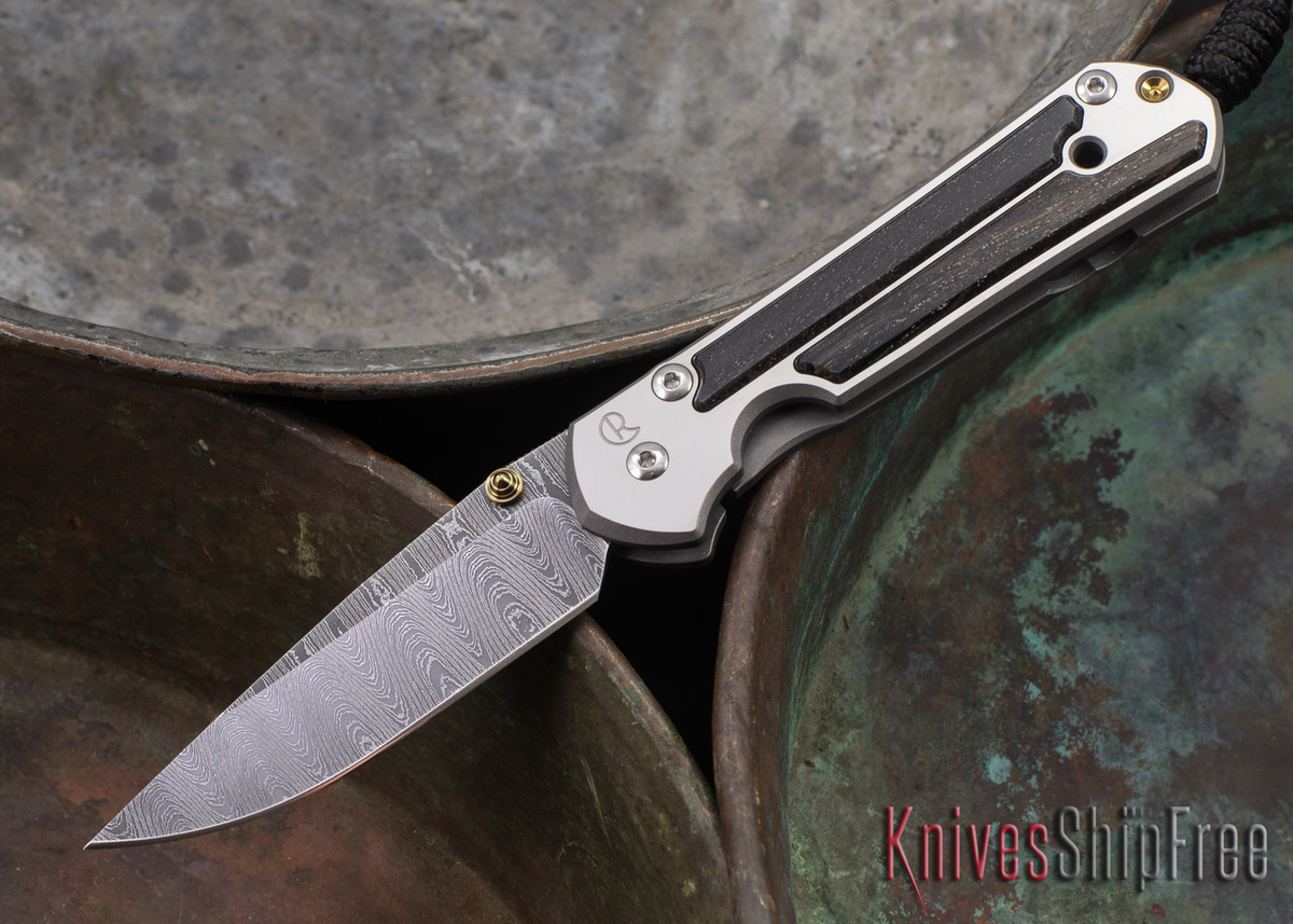 Chris Reeve Knives: Small Sebenza 21 - Bog Oak - Ladder Damascus - 071404 primary image