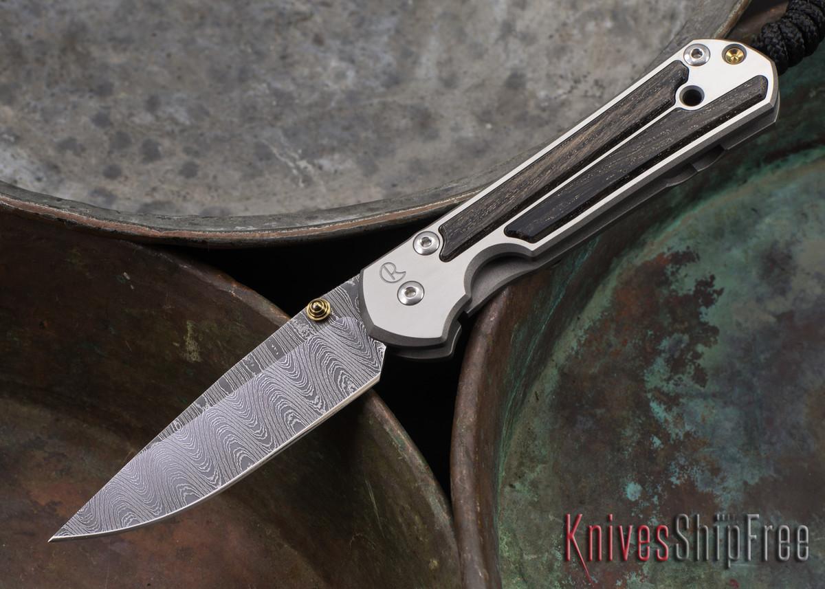 Chris Reeve Knives: Small Sebenza 21 - Bog Oak - Ladder Damascus - 071405 primary image
