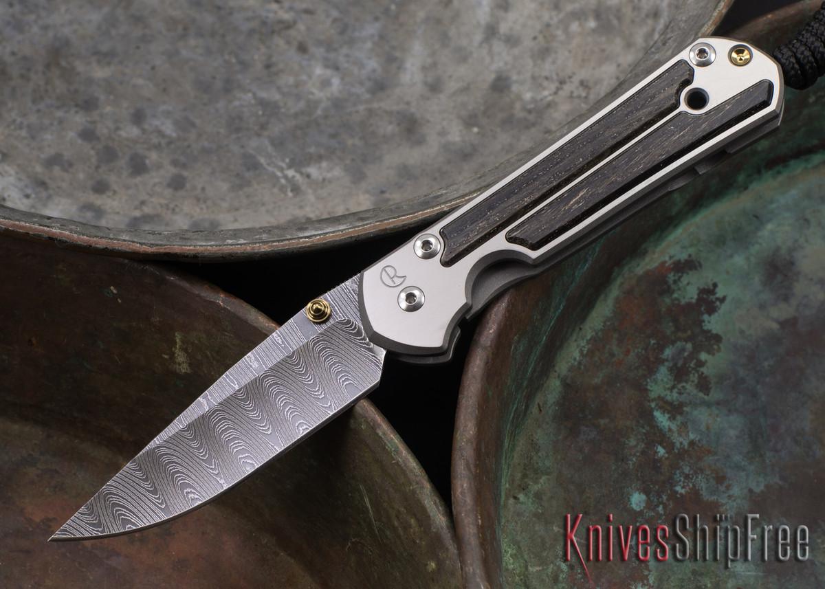 Chris Reeve Knives: Small Sebenza 21 - Bog Oak - Ladder Damascus - 071406 primary image