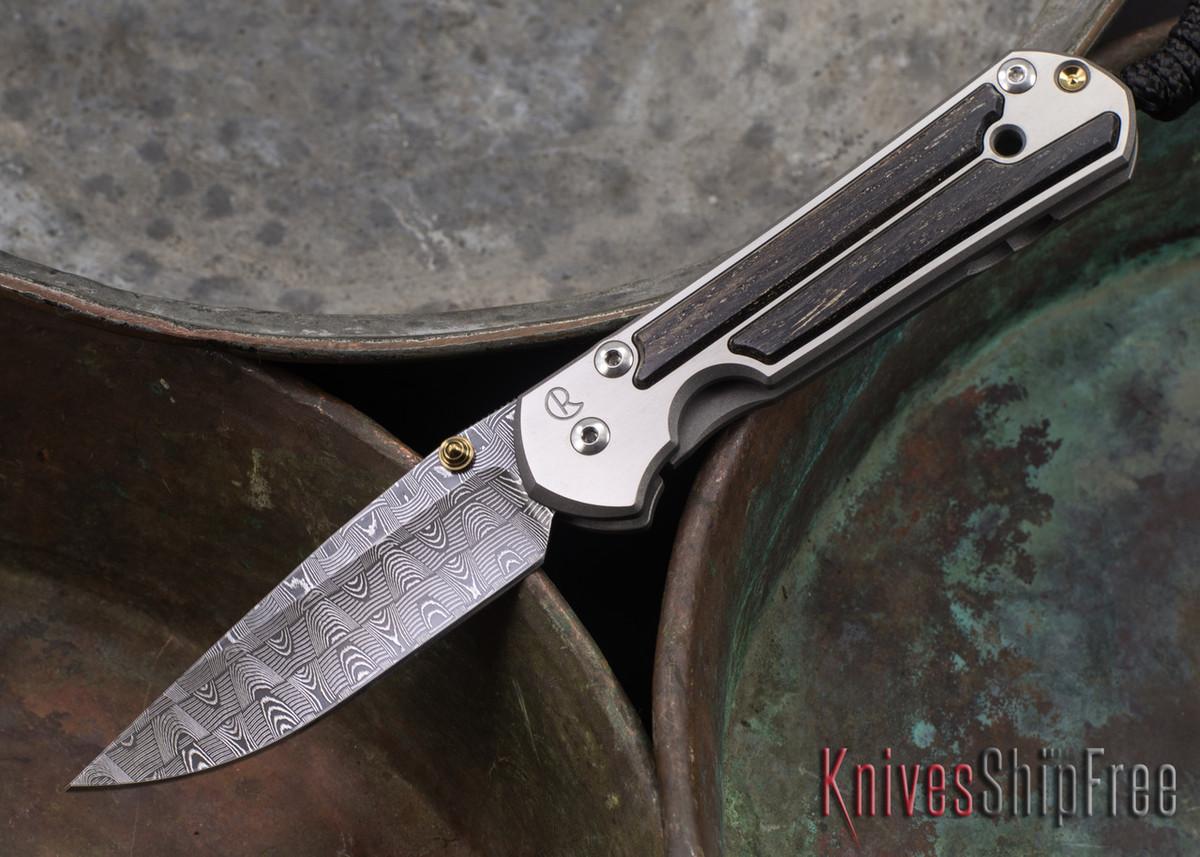 Chris Reeve Knives: Small Sebenza 21 - Bog Oak - Basketweave Damascus - 071409 primary image