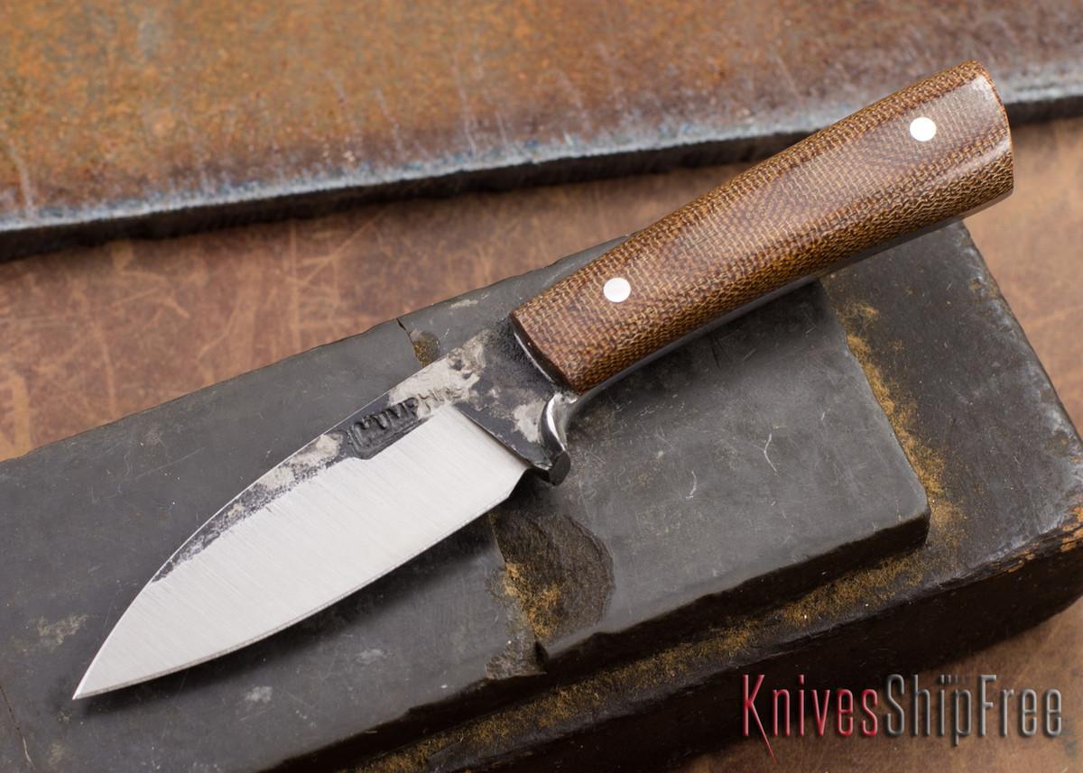 Lon Humphrey Knives: Custom Whitetail - Natural Micarta - 080914 primary image